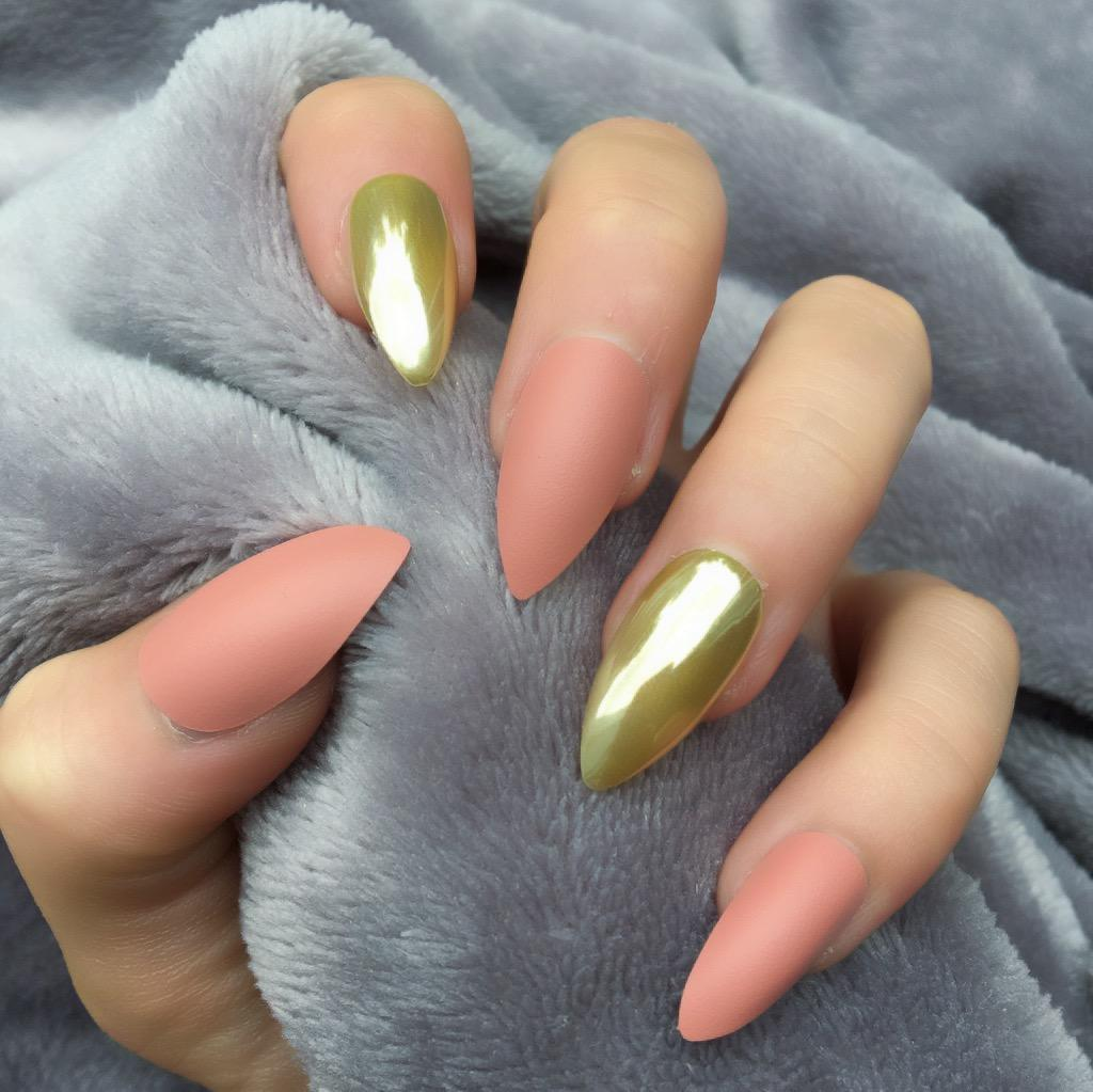 To acquire Mirror gold nails pictures trends