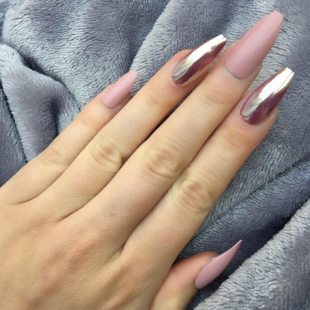 Rose Matte Mirror Rose Coffin – Doobys Nails