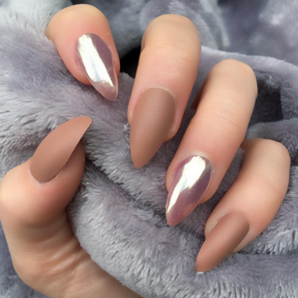 Deep Mocha Matte Rose Gold Stiletto