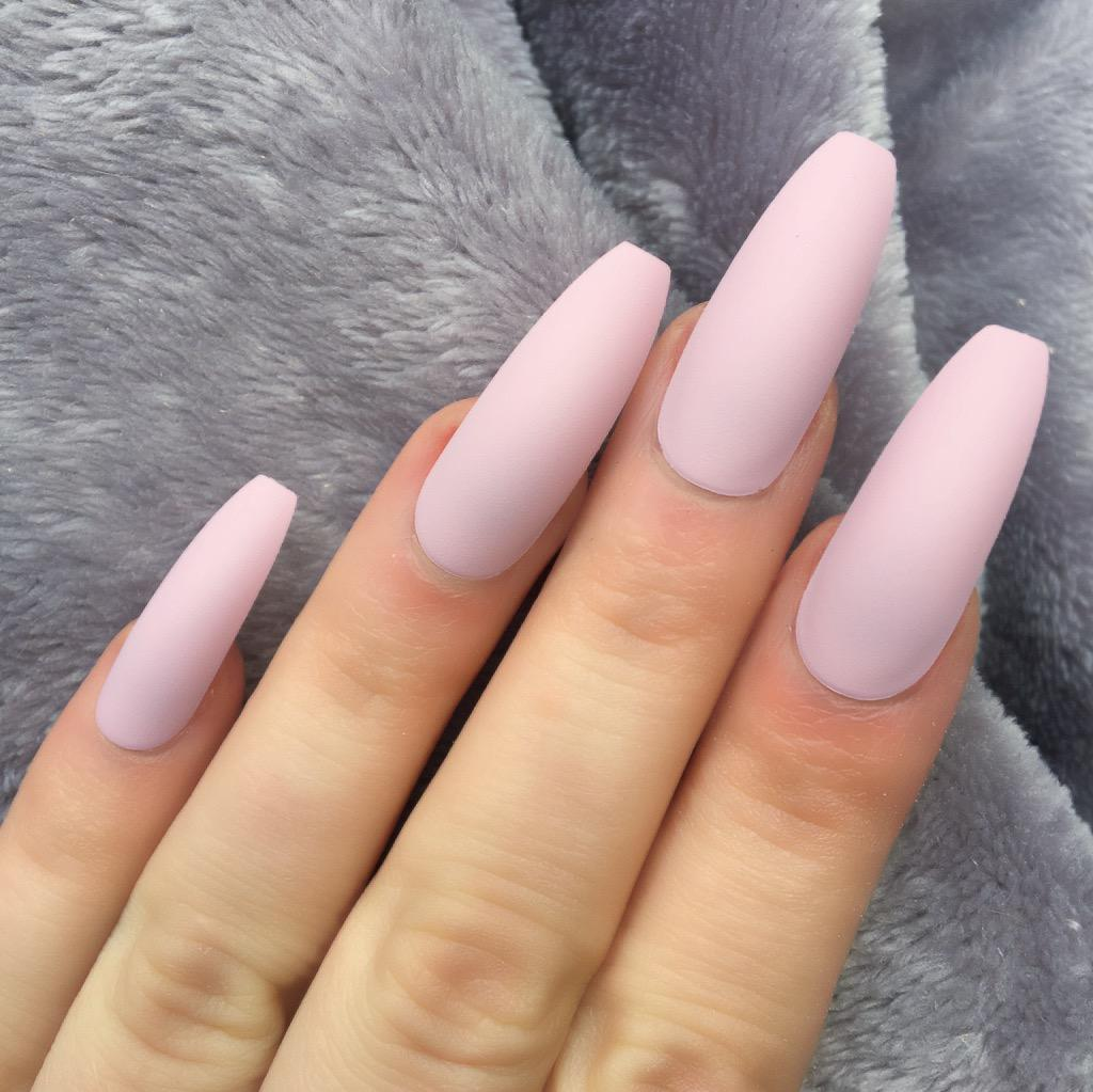 Candy Pink Matte Ballerina – Doobys Nails