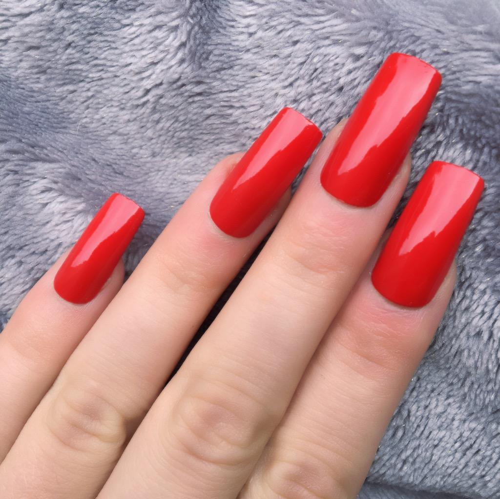 Long Red Square Nails | Best Nail Designs 2018