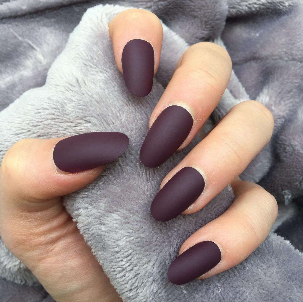 Maroon Matte Oval – Doobys Nails