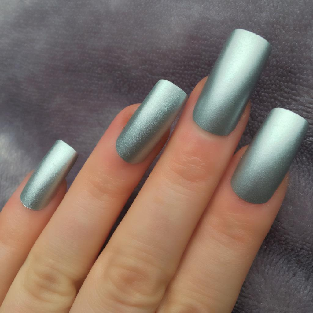Silver Chrome Long Square