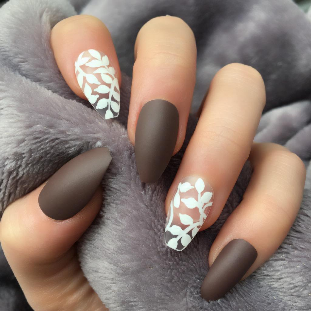 Brown Matte Delightful Coffin – Doobys Nails