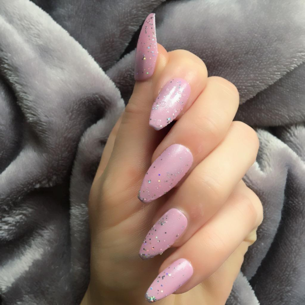 Heat Change Grey Unicorn to Pink Long Coffin – Doobys Nails