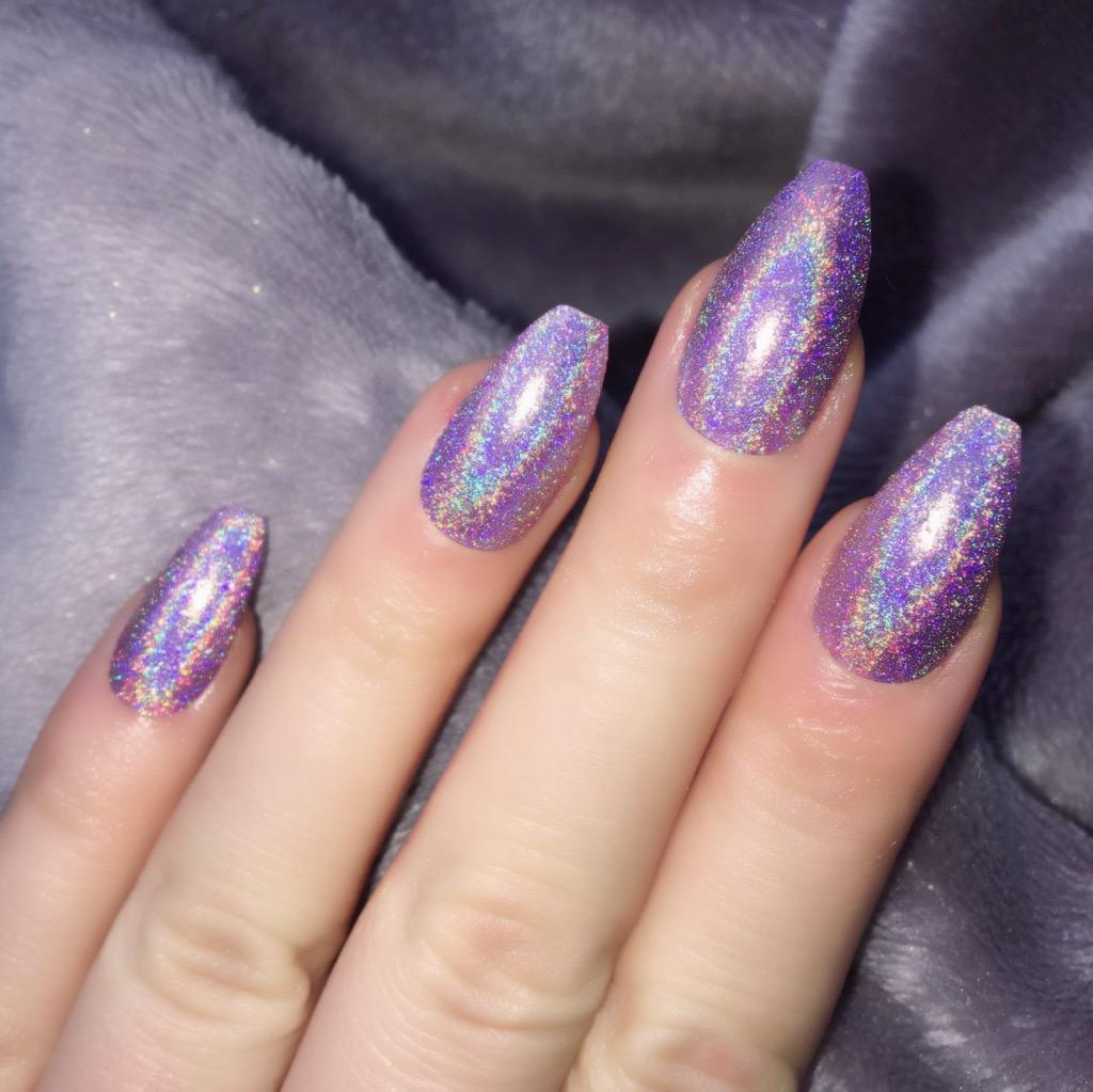 Holographic Fairy Dust Coffin – Doobys Nails
