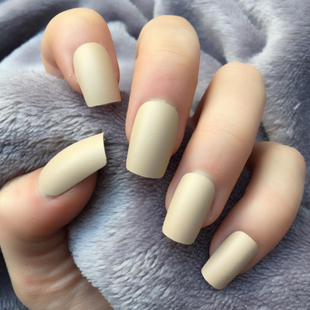 Nude Matte Short Square – Doobys Nails