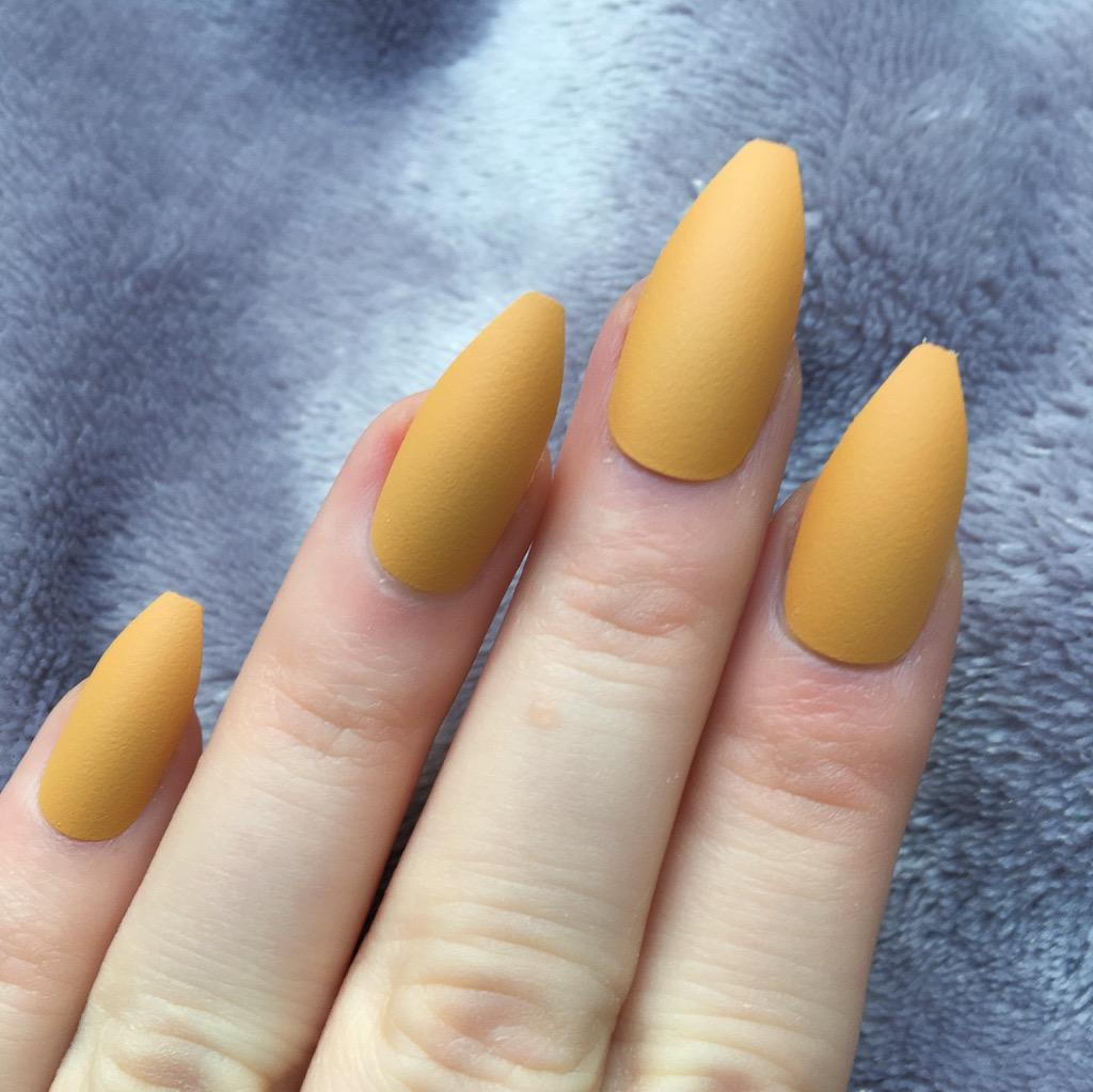 Mustard Matte Long Coffin