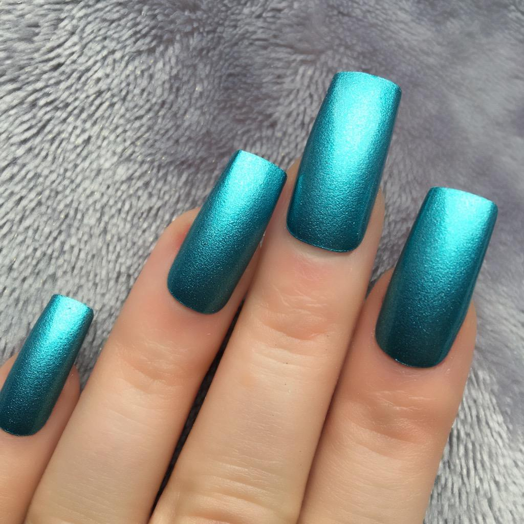 Chrome Aqua Long Square