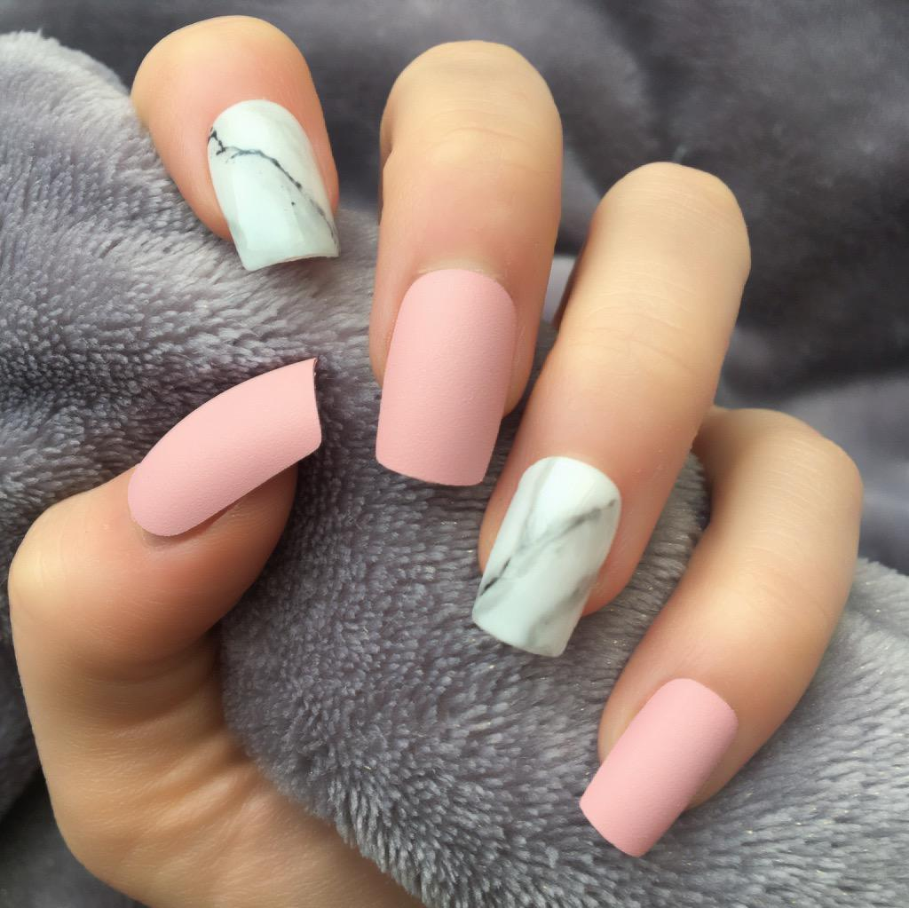 Acrylic Light Pink Marble Nails Nail And Manicure Trends