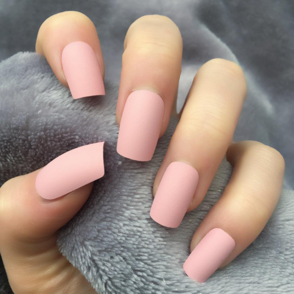 Baby Pink Matte Short Square – Doobys Nails