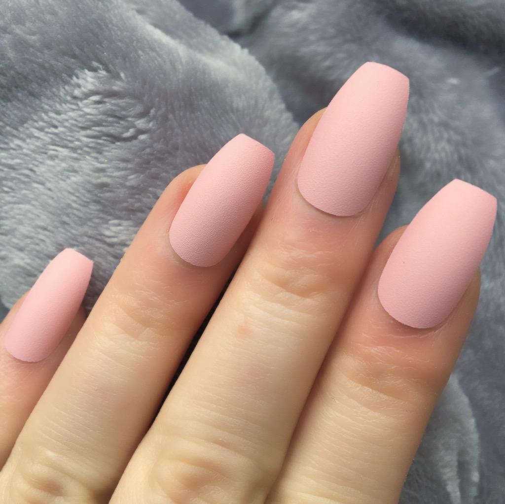 Baby Pink Matte Squaletto – Doobys Nails