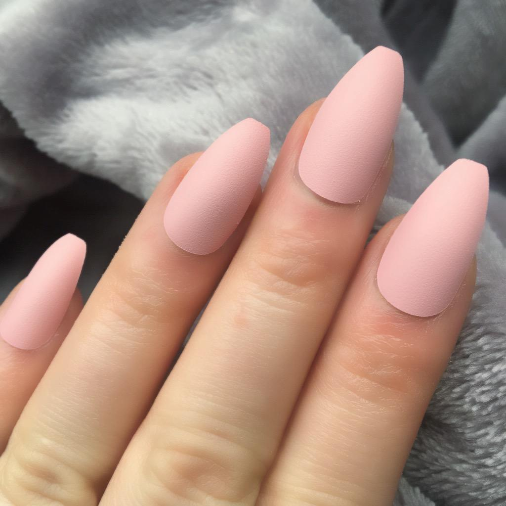 baby pink matte coffin � doobys nails