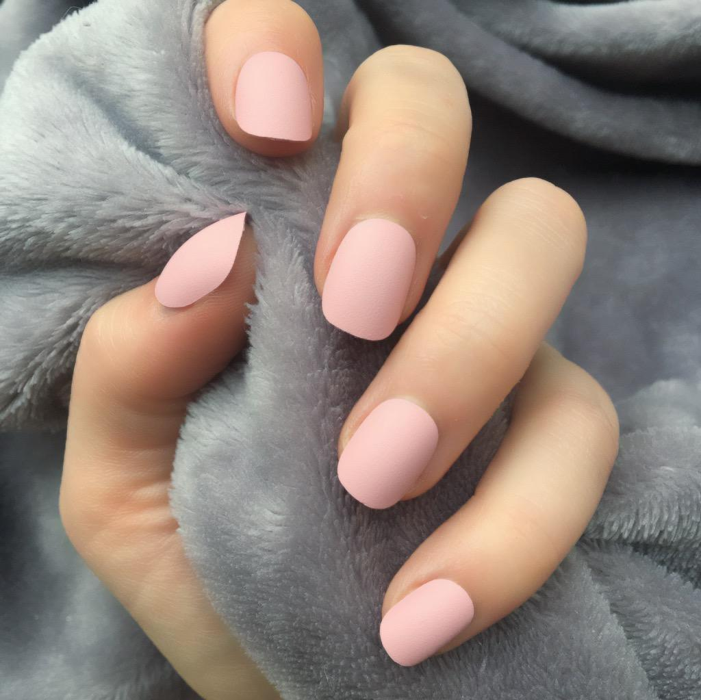 Baby Pink Matte Short Round – Doobys Nails