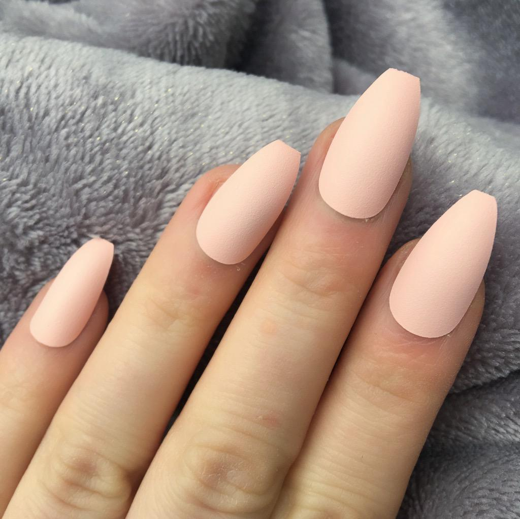 Baby Peach Matte Coffin – Doobys Nails