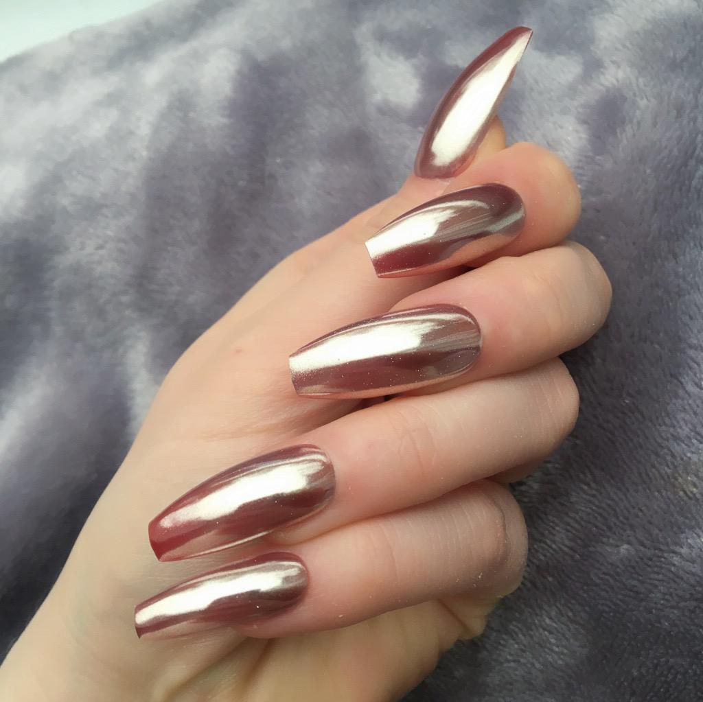 Rose Gold Mirror Ballerina – Doobys Nails