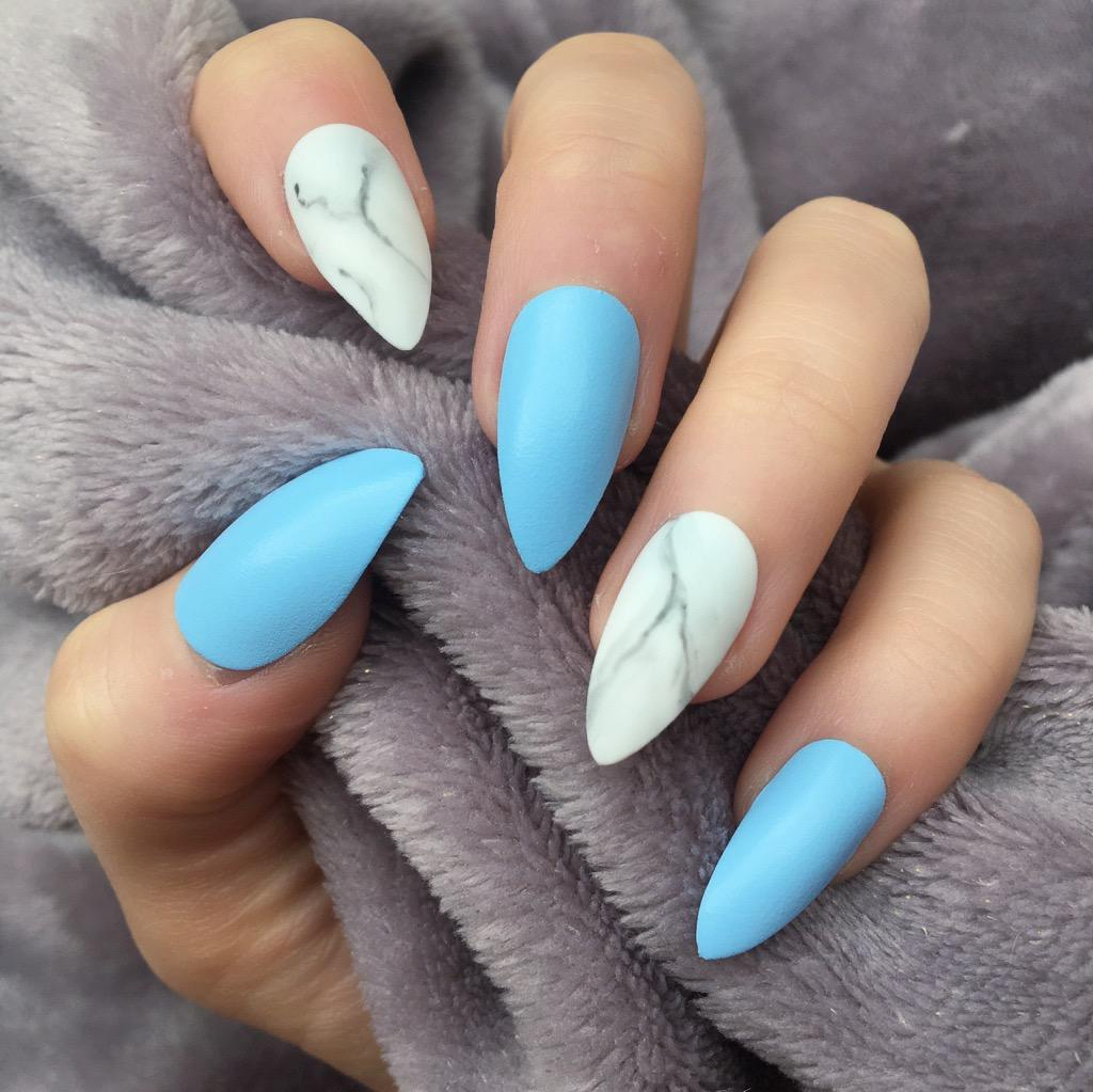 Matte Light Pink Marble Nails Nail And Manicure Trends