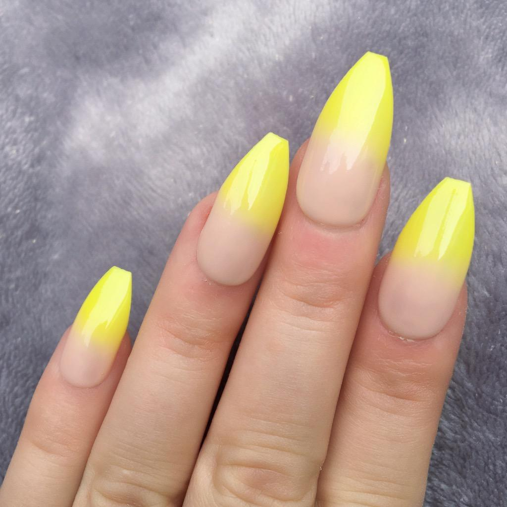 Yellow Ombre Long Coffin