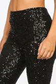 High Waisted Sequin Flare Trouser