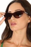 Cat Eye Sunglasses In Brown