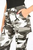 Camo Print Cuffed Cargo Trouser