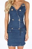 Dark Denim Mini Dress