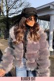 Grey Super Soft Faux Fur Jacket