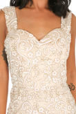 Glitter Embellished Maxi Dress In Nude