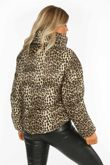 Leopard Print Padded Bomber Jacket
