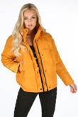 Padded Bomber Jacket In Mustard