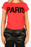 Red Paris Slogan T-Shirt