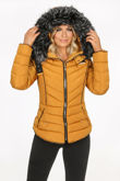 Mustard Fitted Puffer Jacket