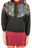 Sequin Embellished Sweatshirt