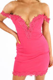 Sweetheart Bengaline Mini Dress In Fuchsia