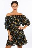 o/465/W1460-_Floral_Chiffon_Off_The_Shoulder_Day_Dress_In_Black_-2__12335.jpg
