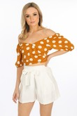 g/016/W1656-_Bardot_Polka_Dot_Crop_Top_In_Mustard-2__06409.jpg