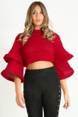 c/779/Waffle_Crop_Top_With_Layered_Bell_Sleeve_In_Burgundy-2__76381.jpg