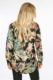 Black Floral Oversized Blouse