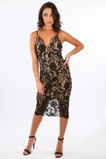 j/498/11451-_Crochet_Contrast_Plunge_Neck_Bodycon_Dress_Black-2__31327.jpg