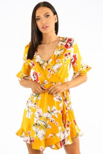 f/264/27730-_Floral_Satin_Wrap_Look_Dress_With_Frill_In_Mustard-2__73536.jpg