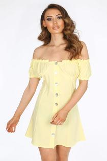 Yellow Bardot Day Dress