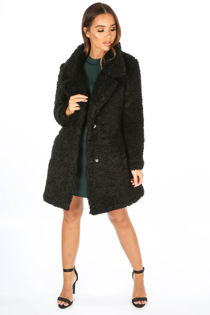 Black Super Soft Borg Coat