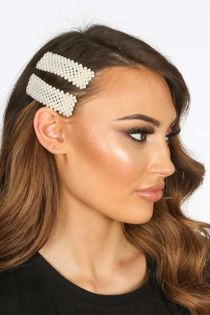 Darcy Pearl Block Hair Slides