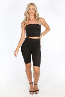 Black Lurex Cycling Shorts