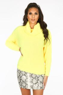 Fluorescent Yellow Oversized Jumper