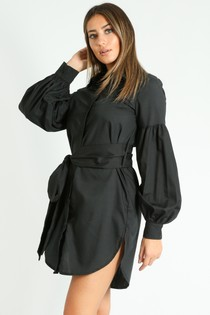 c/872/Puff_Sleeve_Belted_Shirt_Dress_In_Black-2__78712.jpg