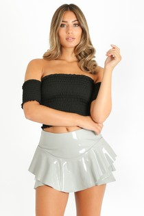 e/613/Vinyl_Frilled_Flowing_Skort_In_Grey-2__82372.jpg