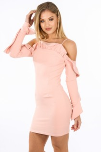 y/339/W1611-_Long_Sleeve_Cold_Shoulder_Frill_Dress_In_Pink-2__39638.jpg