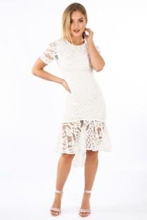 l/680/W2407-_White_Crochet_Short_Sleeve_Fishtail_Midi_Dress__43191.jpg