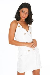 White Denim Mini Dress